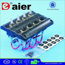 Interruptor de alavanca do diodo emissor de luz 12V / painel solar flexível marinho