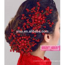 Peignes en cristal accessoires de cheveux faits à la main