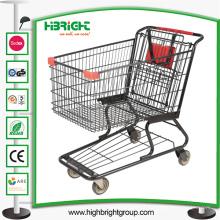 Chariot à achats de supermarché de style américain avec de bonnes roues