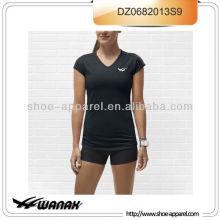 2014 design black running wear for ladies manufacturer