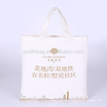 Reusable Durable Printed Natural Color Grocery Canvas Cotton Shopping Tote Bag Promotion