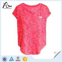 Вискоза Wicking Женские рубашки Оптовая Фитнес-одежда