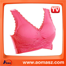 Wholesale Seamless Sport Bra Genie Bra With Lace With Removable Pads