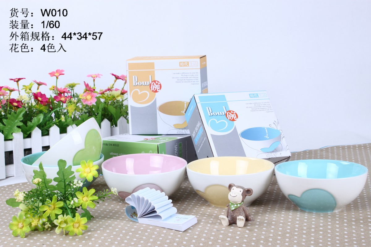 Creative and Colorful Ceramic Food Bowl