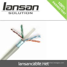 LANSAN 1000ft de alta velocidade 4 pares stp cat6 lan cabo 100% Fluke aprovação UL ANATEL Aprovação
