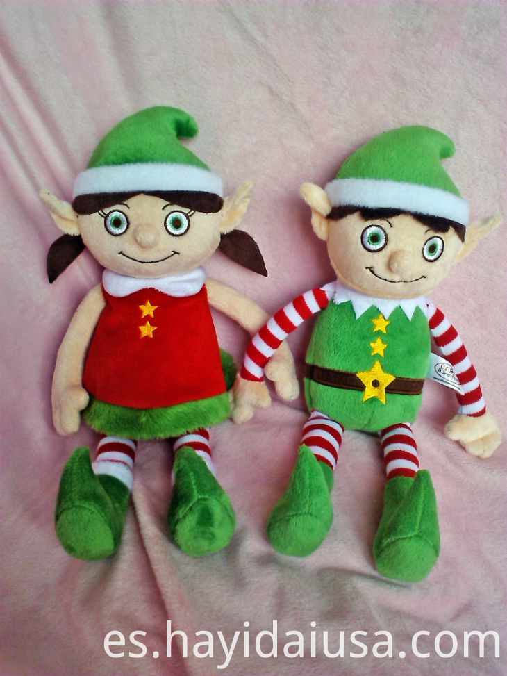 Plush Christmas Elves Boy And Girl20244241212