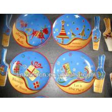 Joyas de Navidad de impresión fina pastel de cerámica / placas de pizza