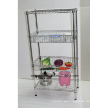 Multifunctional Metal Kitchen Basket Rack for Storing Fruit/Vegetable (BK6035120B4CR)