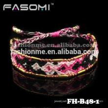 Bracelets d'amitié tissés colorés de Guangzhou FASOMI
