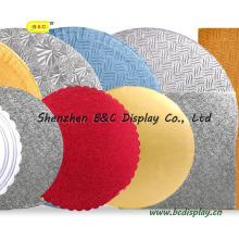 Unterschiedlicher Form und Größe Runde Kuchen Platten Platz Kuchen Boards mit SGS (B & C-K003)