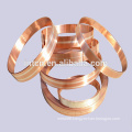 Silver brass clad metal strips