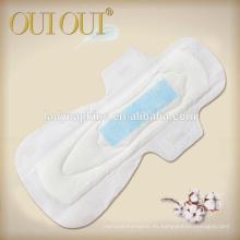 Almohadillas sanitarias regulares maxi respirables ultra suaves calientes de la tira de la venta para las mujeres