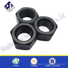 Ecrou hexagonal noir fin Ecrou hexagonal de grade 5 Astm A194 2H NUT