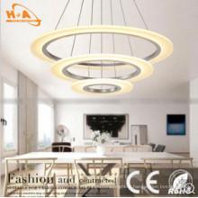 Lampe suspendue acrylique rétro pendentif lampe E27 pour décoration de l'hôtel