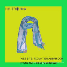 new style blue silk stream thick natural silk scarf-- scarf with solid color