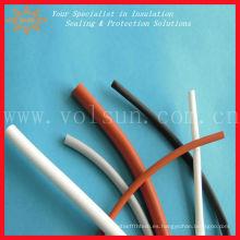 Tubos termocontraíbles de silicona que brillan intensamente