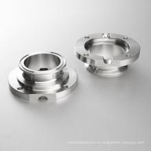 Ss304 DIN резьбовой сварной нержавеющей санитарной клапан-бабочка