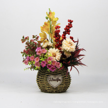 China wholesale fashion artificial flowers floral art for shop wall