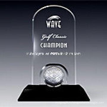 Гольф классический награды мемориальная доска в черный Base1009