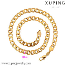 42212-Xuping Fashion Jewelry Simple Gold Mens Necklace