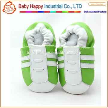 Nuevo zapato de vestido de cuero suave genuino del bebé de las muchachas.