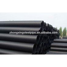 Corrugados de polietileno de alta densidad de doble pared para tubería subterránea de drenaje de agua