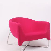 Nouvelle chaise de sofa de tissu de meubles de conception de maison avec la jambe en métal