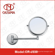 Hotel Bathroom Brass and Stainless Steel Makeup Mirror