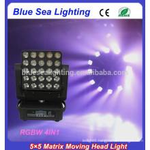2015 new 5x5 matrix led moving head rgbw wash beam light