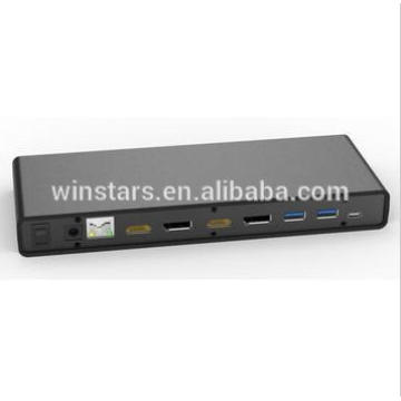 USB 3.0 type C 5K universal HDD docking station for laptop/PC, supports all certified HDMI/DP CE/FCC