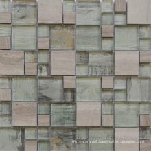 Foshan Wholesale 300X300 Elegant Design Clear Glass Marble Tile