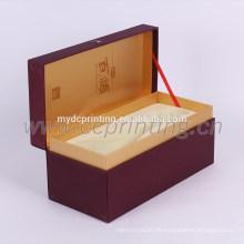 Luxusmarke roten Papier Verpackung Box Wein Papier Wein Geschenkbox