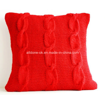 New Design Moda 100% Hand Knit Pillow Almofada Covers Case