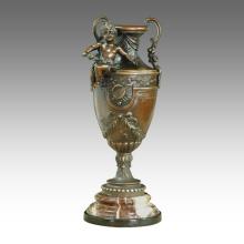 Vase Statue Decoration Boy Carving Bronze Sculpture TPE-424 / 425