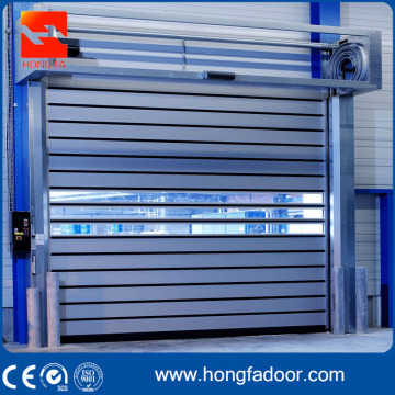 Porte de sécurité en aluminium à enroulement rapide en spirale