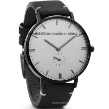 Classic Men′s Wrist Watch with Leather Band
