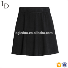 Women Fashion Black Pleated Mini Skirt
