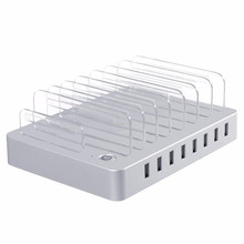 Desktop Charging Station 96W 8 Ports USB Charger with Slots