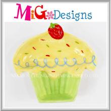 Prato de Design de bolo de cerâmica promocional e prato