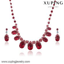 63908 joyería de lujo del rodio del diamante de la CZ de la más nueva moda fijada para la boda o el partido