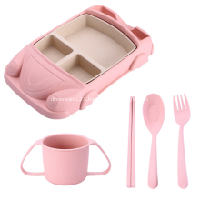 Car Shape Wheat Straw Dinnerware Set