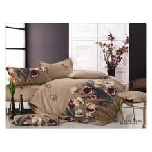 Luxo 40s 128 * 68 impressão pigmento Bedding conjunto com cama listrada edredon king size