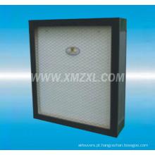 filtro HEPA de baixa resistência com mini-plissado