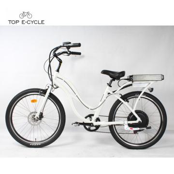 Белый 1000Вт задней ступицы мотора электрические велосипеды крейсера пляжа для продажи