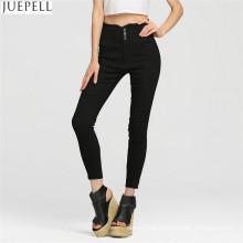 Europeos y americanos largos mujer Trouse moda pantalones delgado era cintura fina lápiz fábrica de pantalones en Guangzhou