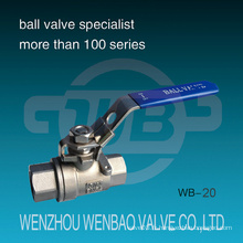 Valve à bille manuelle femelle DIN 2-PC 1000 Wog
