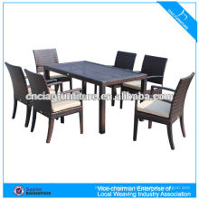 Vente chaude moderne restaurant rotin table à manger et une chaise