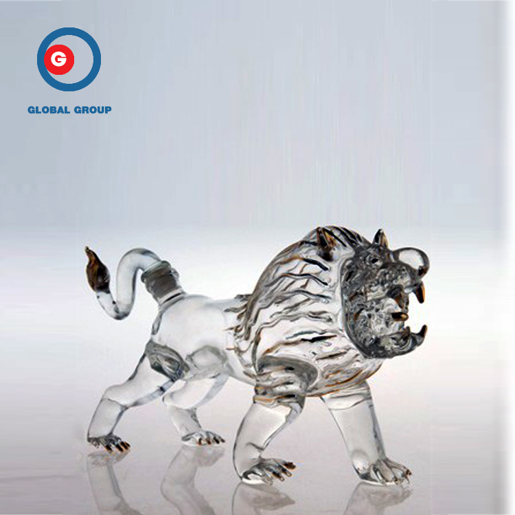 Empty Transparent Bottle Animal Glass Craft Wine Bottle