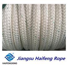 Cuerda de nylon de la cuerda de amarre de la cuerda marina de la trenza doble