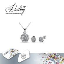 Destiny Jewellery Crystal From Swarovski Brilliance Set Pendant and Earrings